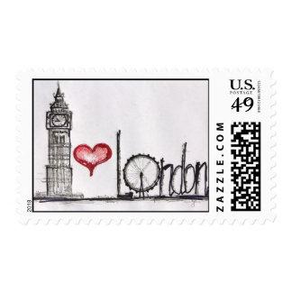 I love London Postage Stamp