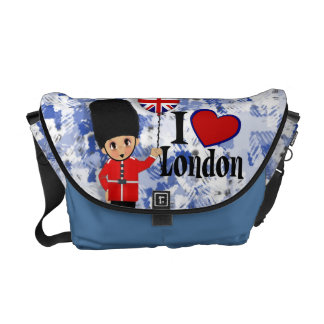 I Love London Rickshaw Messenger Bag