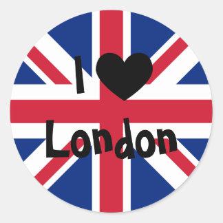 I Love London Classic Round Sticker