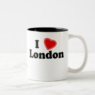 I Love London Two-Tone Coffee Mug