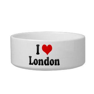 I Love London, United Kingdom Cat Water Bowl