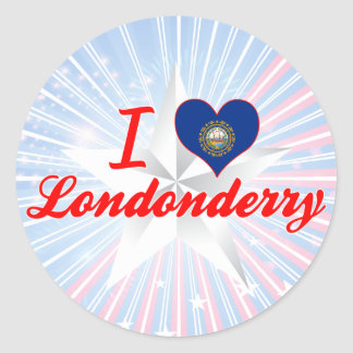 I Love Londonderry, New Hampshire Classic Round Sticker