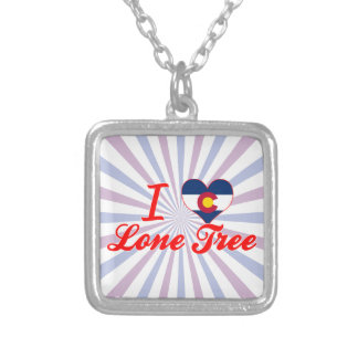 I Love Lone Tree, Colorado Silver Plated Necklace