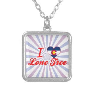 I Love Lone Tree, Colorado Square Pendant Necklace