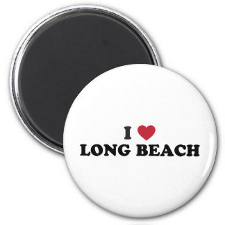 I Love Long Beach California 2 Inch Round Magnet
