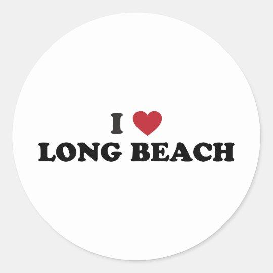 I Love Long Beach California Classic Round Sticker