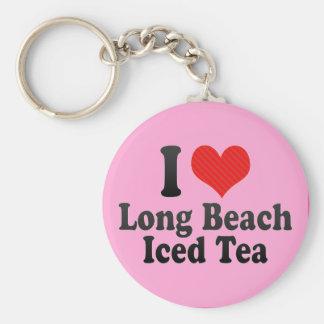 I Love Long Beach+Iced Tea Key Chains
