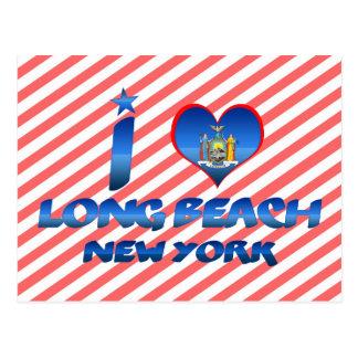 I love Long Beach, New York Postcard