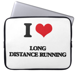 I Love Long Distance Running Laptop Sleeve