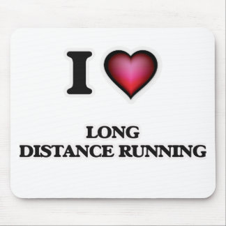 I Love Long Distance Running Mouse Pad
