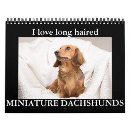 I LOVE long haired MINIATURE DACHSHUNDS Calendar