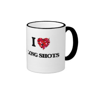 I Love Long Shots Ringer Coffee Mug