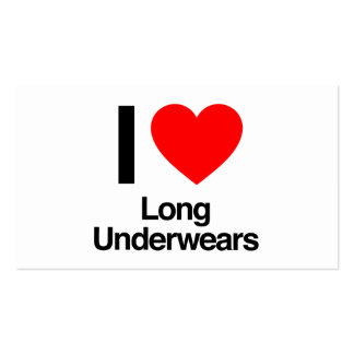 i love long underwears business card