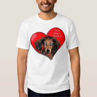 I Love Longcoat Dachshunds Shirt