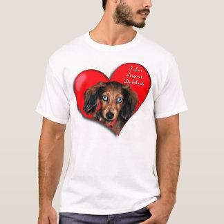 I Love Longcoat Dachshunds T-Shirt