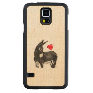 I Love Longears Demure Donkey Carved® Maple Galaxy S5 Slim Case