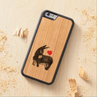 I Love Longears Demure Donkey Carved® Cherry iPhone 6 Bumper