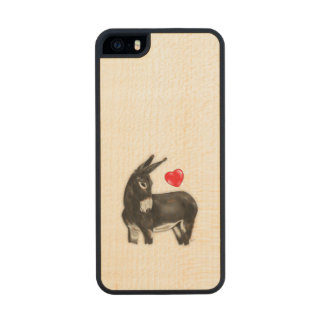 I Love Longears Demure Donkey Wood Phone Case For iPhone SE/5/5s