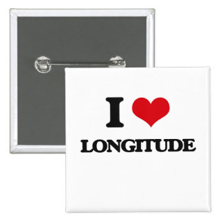 I Love Longitude Pins