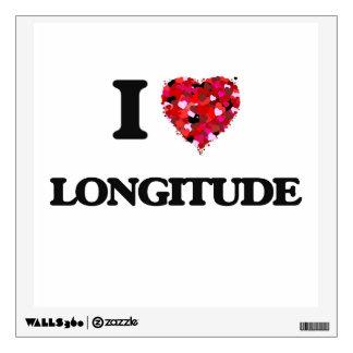 I Love Longitude Wall Sticker