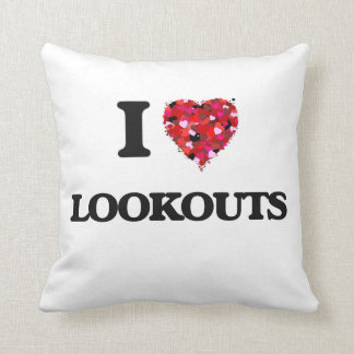 I Love Lookouts Throw Pillows