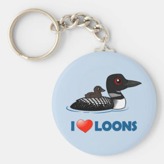 I Love Loons Keychains