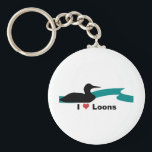 "I Love Loons Keychain<br><div class=""desc"">(multiple products selected) Gotta love the Common Loon!</div>"