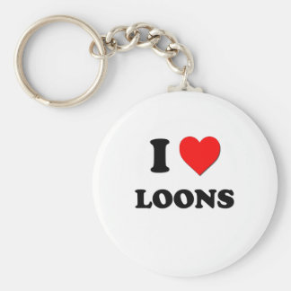 I Love Loons Key Chains