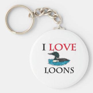 I Love Loons Key Chain
