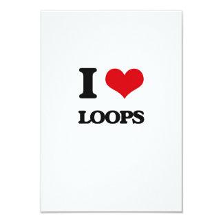 I Love Loops 3.5x5 Paper Invitation Card