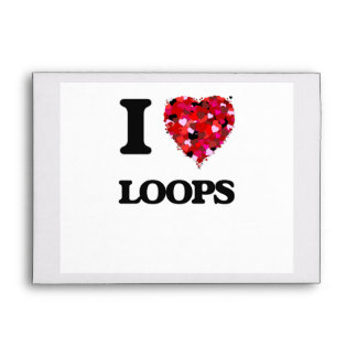 I love Loops Massachusetts Envelope