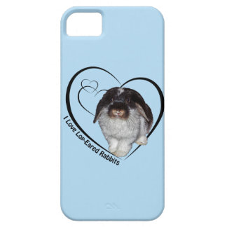 I Love Lop-Eared Rabbits iPhone 5 Case(Light Blue) iPhone SE/5/5s Case