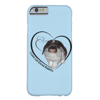 I Love Lop-Eared Rabbits iPhone 6 Case(Light Blue) Barely There iPhone 6 Case