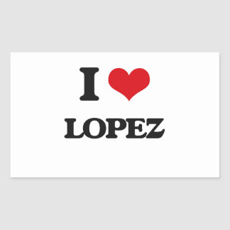 I Love Lopez Rectangular Sticker