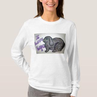 I love Lops (Gray) Ladie's Rabbit T-Shirt
