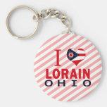 I love Lorain, Ohio Keychain