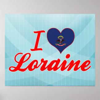 I Love Loraine, North Dakota Posters