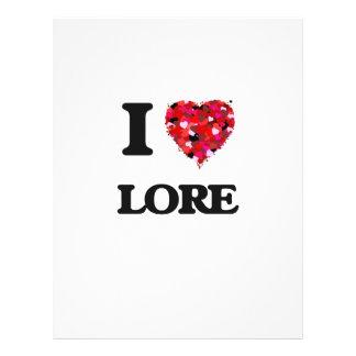 "I Love Lore 8.5"" X 11"" Flyer"