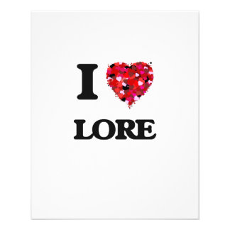 "I Love Lore 4.5"" X 5.6"" Flyer"