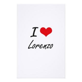 I Love Lorenzo Stationery