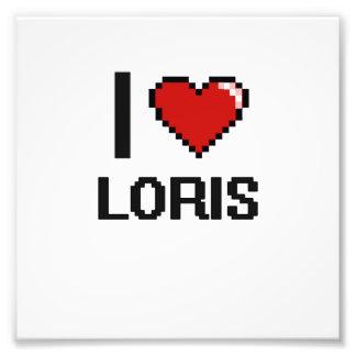 I love Loris Digital Design Photo Print