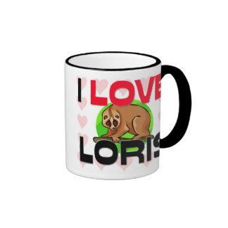 I Love Loris Coffee Mugs