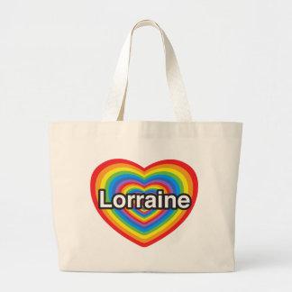 I love Lorraine. I love you Lorraine. Heart Bag