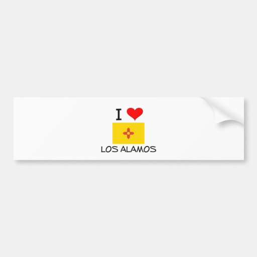 I Love Los Alamos New Mexico Bumper Sticker
