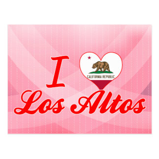 I Love Los Altos, California Postcard