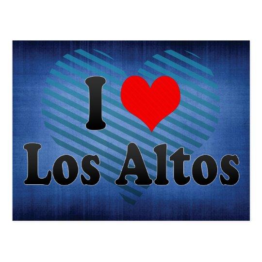 I Love Los Altos, United States Postcard