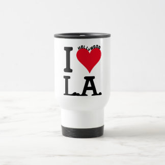 I LOVE LOS ANGELES 15 OZ STAINLESS STEEL TRAVEL MUG