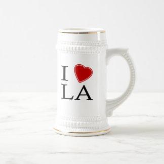 I Love Los Angeles 18 Oz Beer Stein
