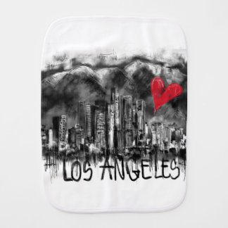 I love Los Angeles Baby Burp Cloth