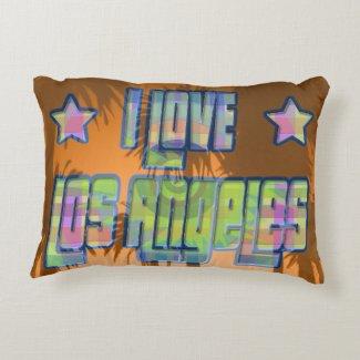 I LOVE Los Angeles Beautiful Orange Sunset Pillow